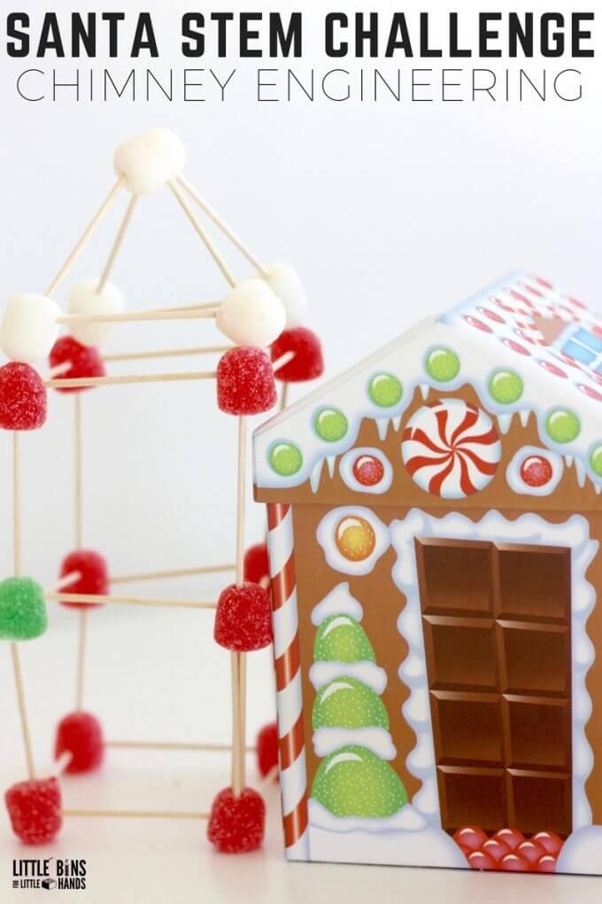Christmas Candy STEM Challenge Design A Chimney For Santa