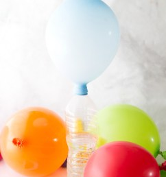 balloon baking soda science experiment combine quick science and balloon play with our easy to set up chemistry for kids  [ 800 x 1200 Pixel ]