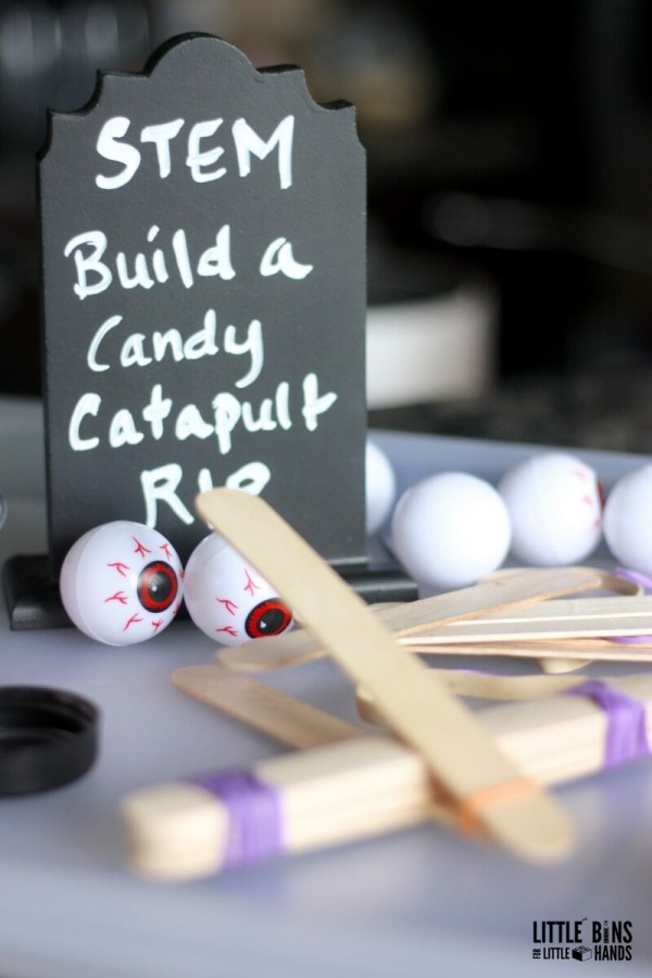 Halloween Popsicle Stick Catapult Stem Activity Kids