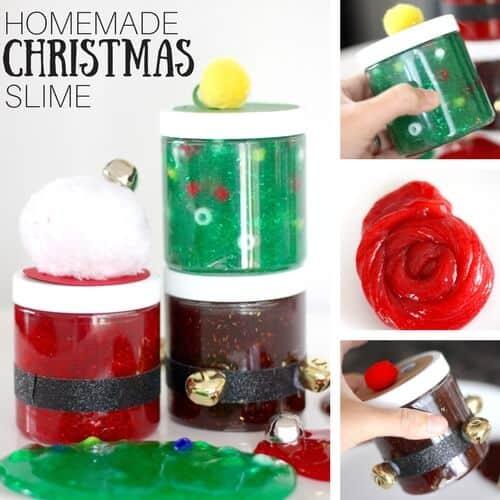Santa Christmas Slime Recipe With Glitter Glue Slime