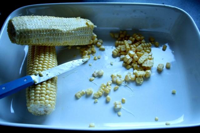 Cut the corn off the cob