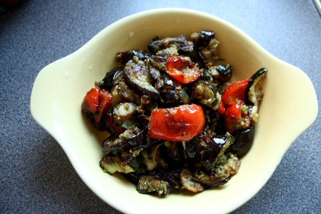 Wild Garlic Pesto Roasted Mixed Vegetables