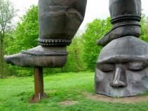 "Detail: Zhang Huan's ""Three Legged Buddha,"" 2007"