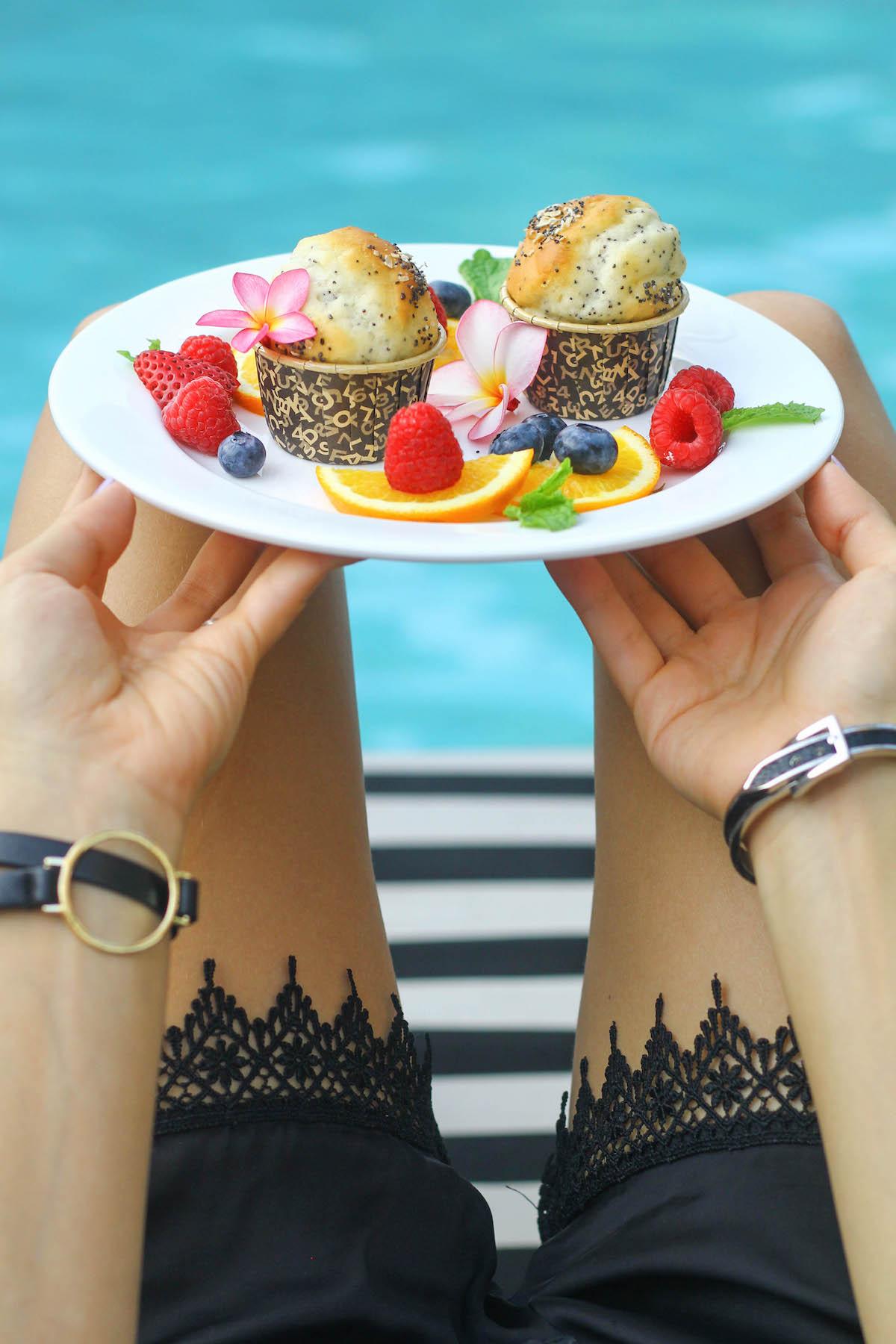 Gluten Free Muffins at Grand Hyatt Erawan. A Gluten Free Luxury Hotel in Bangkok copy