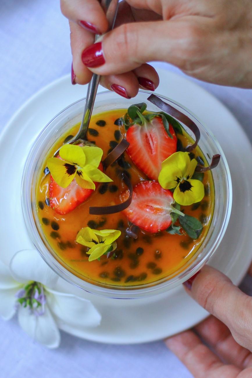 Passion Fruit Panna Cotta Ambra
