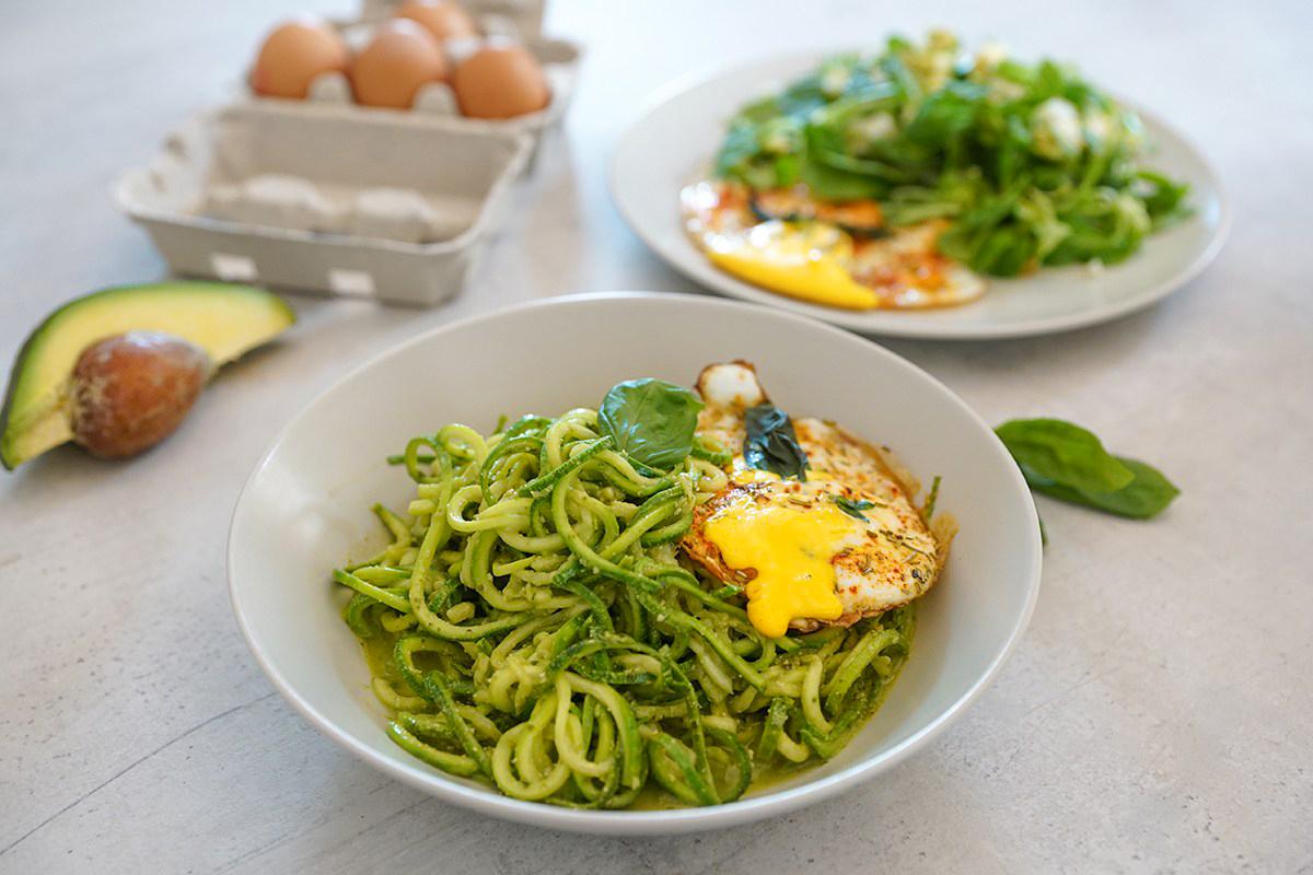 Grain Free Pesto Noodle Bowl