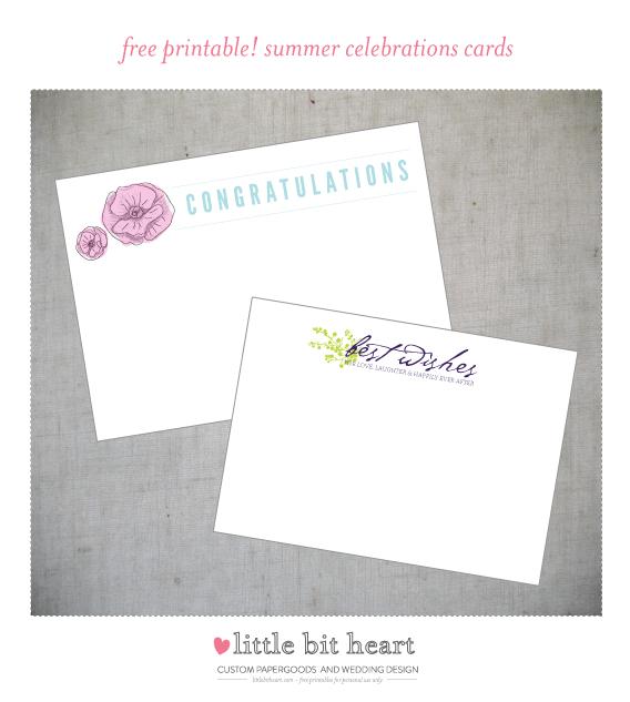 free printables - summer celebrations