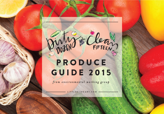 free printable from little bit heart: EWG 2015 produce buying guide