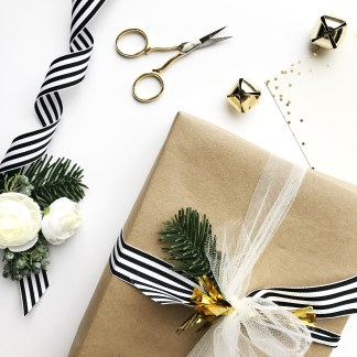 irl_littlebitheart-holiday-present-kraft-wrapping-black-striped-ribbon