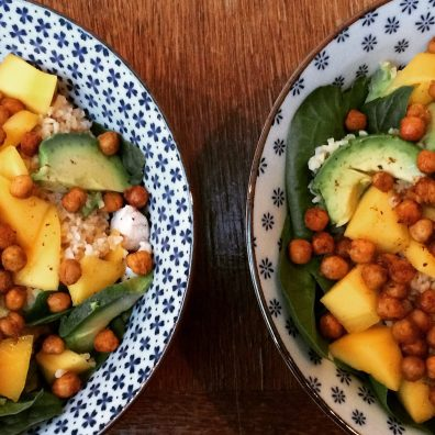 bulgursalade kip mango