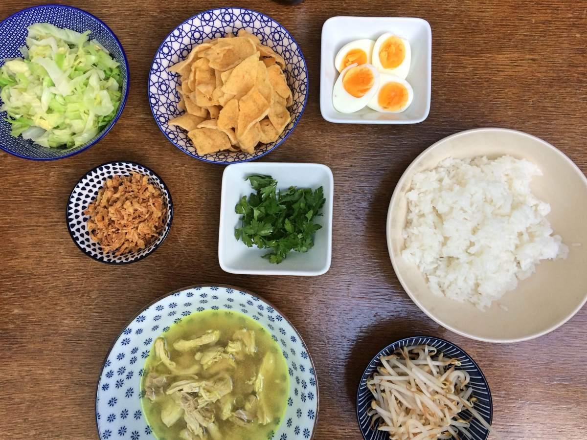 Ingredienten vegetarische soto ajam