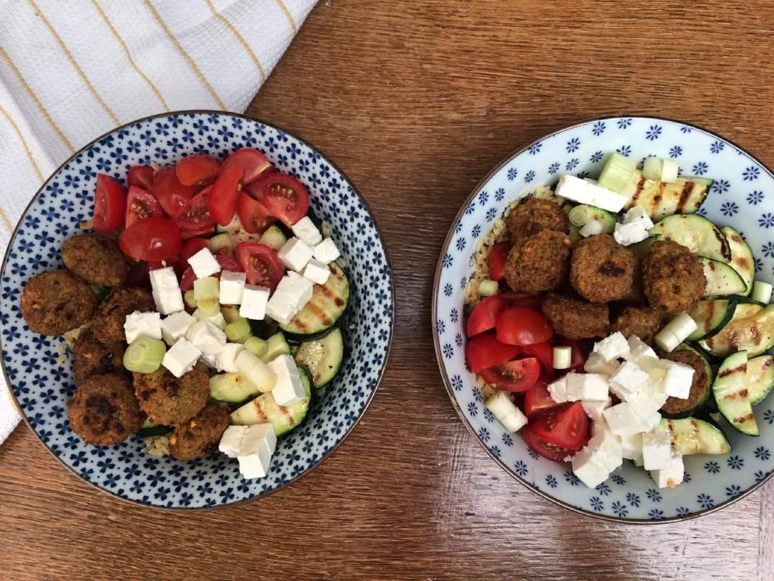 bulgur courgette falafel