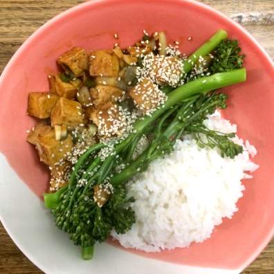 spicy gebakken tofu