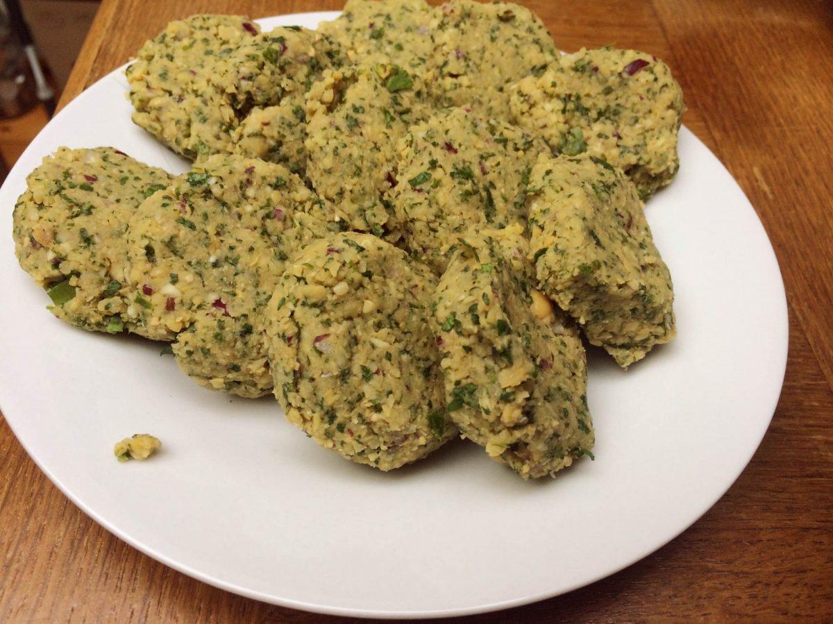 Falafel burgers vegetarisch gourmetten