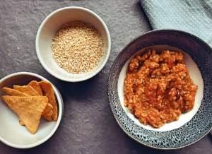 chili sin carne met bulgur