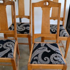 Diy Dining Chairs Makeover Chair Covers Wedding Edinburgh Reupholstered  Little Bits Of