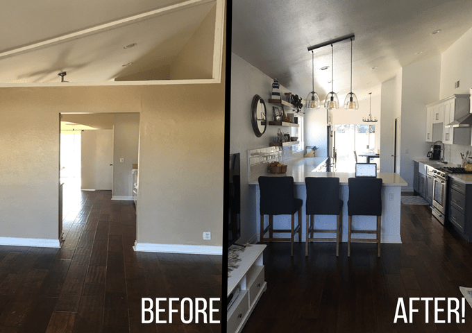 kitchen remodel pictures cabinets for sale cheap my before after little bits of and 5 week