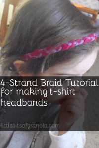 How to make a 4-strand braid for t-shirt headbands