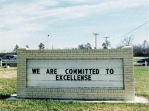 committed sign