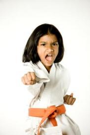 little mean karate girl