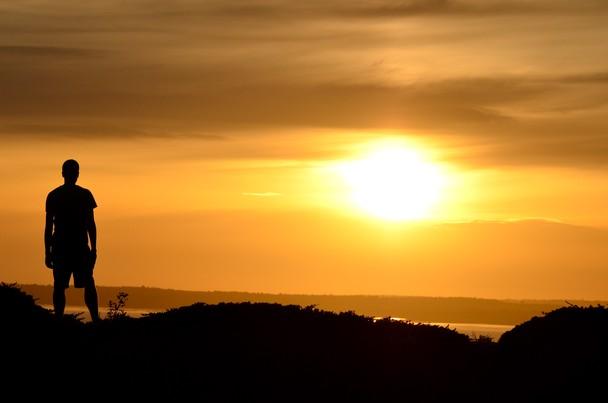stand sunset