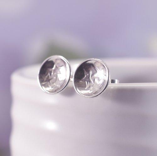 Handmade Sterling Silver Starburst Stud Earrings