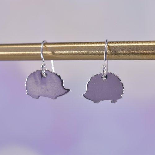 Handmade Sterling Silver Hetty Hedgehog Drop Earrings