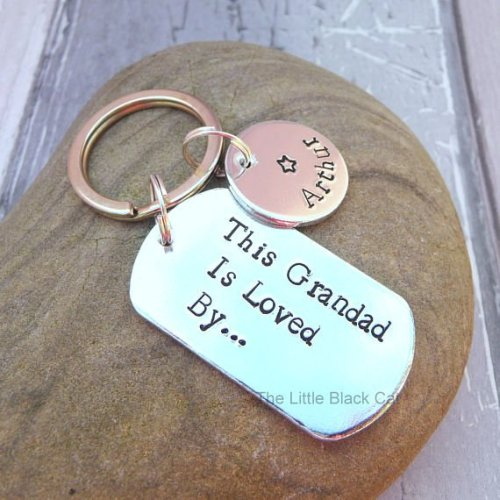 Handmade Aluminium This Grandad Is loved By Keyring