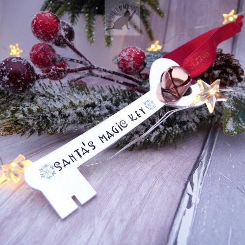 Handmade Santa's Magic Key Decoration