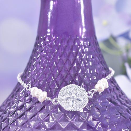 Handmade Sterling Silver Sand Dollar Bracelet