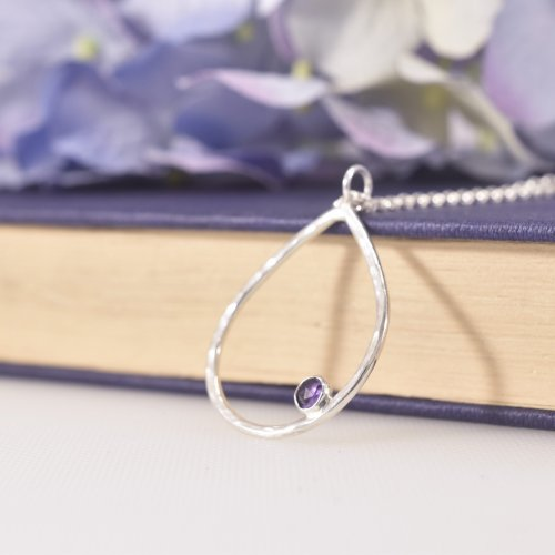 Handmade Sterling Silver Dewdrop Maxi Pendant