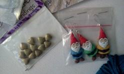 Gnome stitch markers