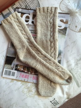 Silverspun Cabled Socks