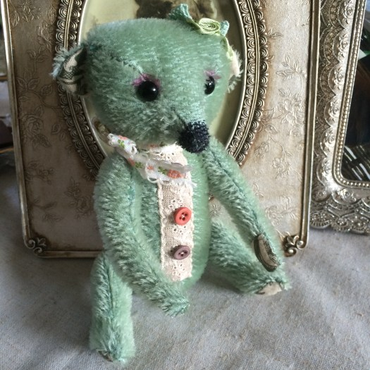 Handmade little vintage look bear