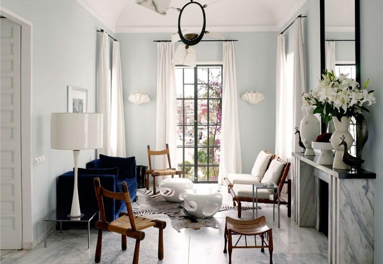 Blue Marble Living Room Via Vogue