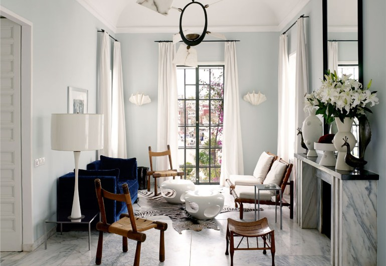 Blue Marble Living Room Via Vogue