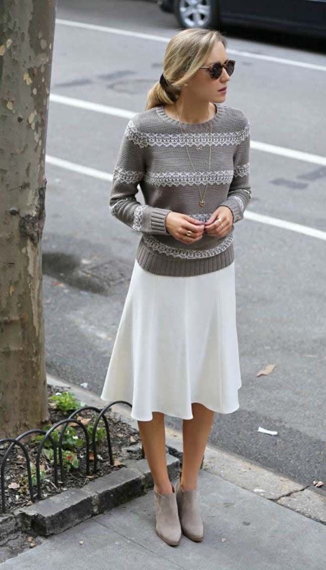 via dust jacket Sweaters, Skirts and Boots