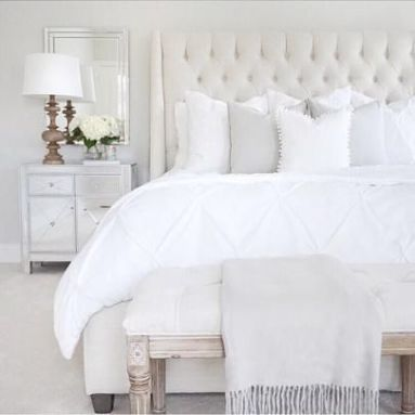 Comfortable Luxury In Bedrooms and littleblackdomicile - image via pinterest