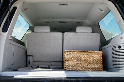 Woven Basket in SUV
