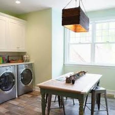 Study Table in Laundry Room