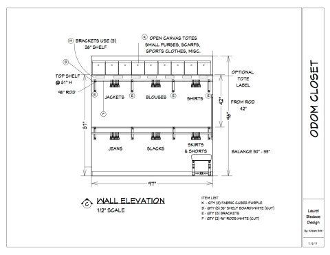 Odom Closet Wall C Elevation 7.18.17