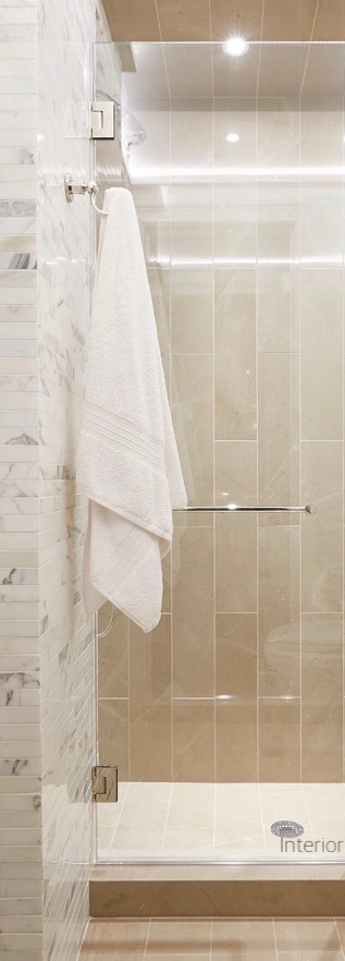 White Towels On Shower Hook