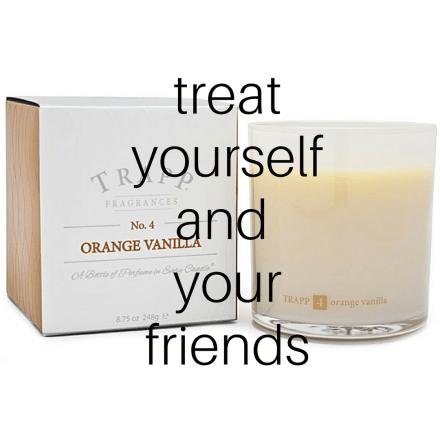 via trapp candles, orange vanilla No 4 candle