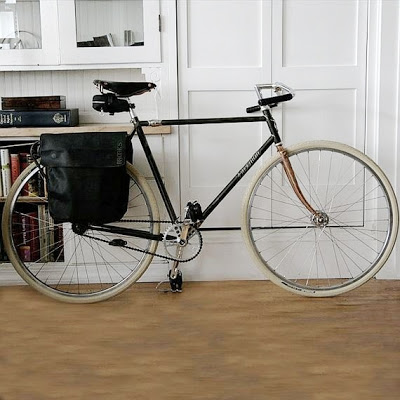 Black Bicycle with White Tires
