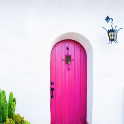 Simply Perfect...Can you image any other color door here? Nope! via pinterest