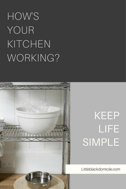 How's Your Kitchen Working? -Littleblackdomicile Pinterest