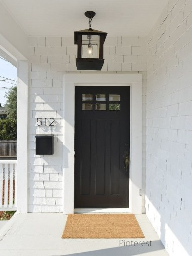 Cottage Style Homes and Black Doors, Lanterns and Mail Boxes- A Welcoming Look Indeed!-via pinterest