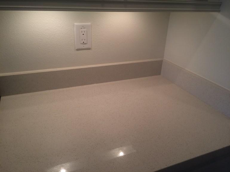 Quartz Kitchen Counter and Empty Splash