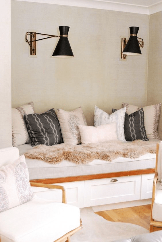 Loving Vintage Vibe Of Metals In A Custom Layout Over This Nook- image via pinterest
