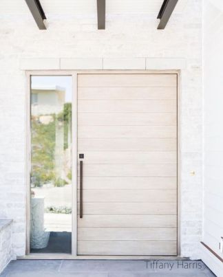 So many shades of the whites to choose from for high end design front door colors.